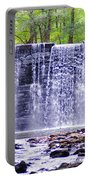 Waterfall In Gladwyne Portable Battery Charger