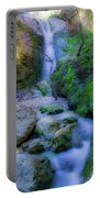 Waterfall In Soft Dream. Portable Battery Charger