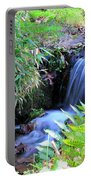 Waterfall In The Fern Garden Portable Battery Charger