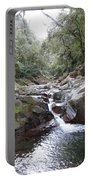 Waterfall In The Forest Portable Battery Charger