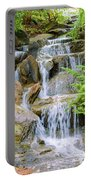 Waterfall In The Vandusen Botanical Garden 1 Portable Battery Charger