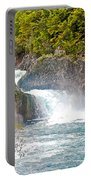 Waterfall In Vicente Perez Rosales National Park Near Puerto Montt-chile  Portable Battery Charger