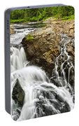 Waterfall In Wilderness Portable Battery Charger