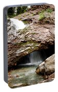 Waterfall Into A Cave Portable Battery Charger