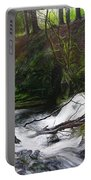 Waterfall Near Tallybont-on-usk Wales Portable Battery Charger