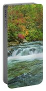 Waterfall On Little Pigeon River Smoky Mountains Portable Battery Charger