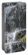 Waterfall On Mount Ranier Portable Battery Charger