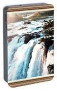 Waterfall Scene For Mia Parker - Sutcliffe L A S With Decorative Ornate Printed Frame.  Portable Battery Charger