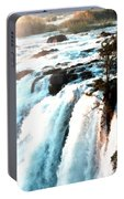Waterfall Scene For Mia Parker - Sutcliffe L B Portable Battery Charger