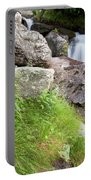 Waterfalls And Bluebells Portable Battery Charger