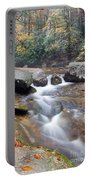 Waterfalls At Roaring River Stone Mountain Portable Battery Charger