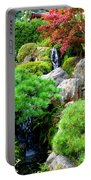 Waterfalls In Japanese Garden Portable Battery Charger