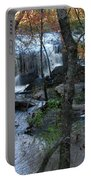 Waterfalls In Morning Portable Battery Charger