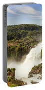 Waterfalls On Iguazu River Portable Battery Charger