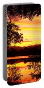 Waterfront Spectacular Sunset Portable Battery Charger
