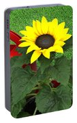Watering With Sunflower Portable Battery Charger