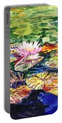 Waterlilies Impressionism Portable Battery Charger