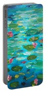Waterlillies Portable Battery Charger