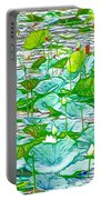 Waterlily Blossoms On The Protected Forest Lake Portable Battery Charger