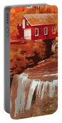 Watermill In Autumn Portable Battery Charger