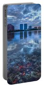 Watery Treasure Portable Battery Charger by Debra and Dave Vanderlaan