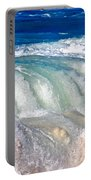 Wave Waterfall, Sunset Beach, Hawai'i Portable Battery Charger