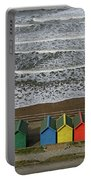 Waves And Beach Huts - Whitby Portable Battery Charger
