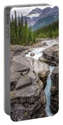 Waves Of ... Granite At Mistaya Canyon, Canada Portable Battery Charger