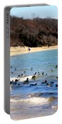 Waves Of Ducks Portable Battery Charger