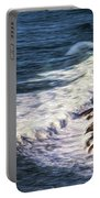 Waves Rocks And Birds Portable Battery Charger
