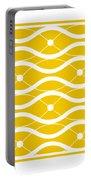 Waves With Border In Mustard Portable Battery Charger