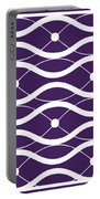 Waves With Border In Purple Portable Battery Charger