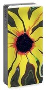 Waving Sunflower Portable Battery Charger