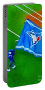 Waving The Flag For The Home Team      The Toronto Blue Jays Portable Battery Charger
