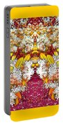 Waxleaf Privet Blooms In Autumn Tones Abstract Portable Battery Charger