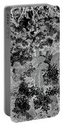 Waxleaf Privet Blooms On A Sunny Day In Black And White - Color Invert Portable Battery Charger