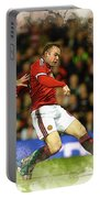 Wayne Rooney Of Manchester United Scores Portable Battery Charger