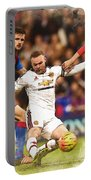 Wayne Rooney Shoots At Goal Portable Battery Charger