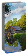 Wayside Inn Grist Mill Reflection Portable Battery Charger