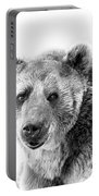 Wb Portrait Of A Bear Portable Battery Charger