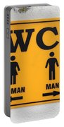 Wc Sign, Croatia Portable Battery Charger