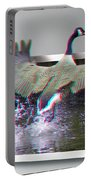 We Have Liftoff - Use Red-cyan 3d Glasses Portable Battery Charger