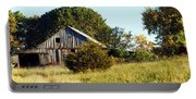 Weathered Barn In Fall Portable Battery Charger