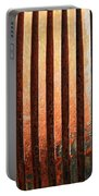 Weathered Metal With Rows Portable Battery Charger
