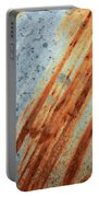 Weathered Metal With Stripes Portable Battery Charger