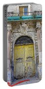 Weathered Old Artistic Door On A Building In Palermo Sicily Portable Battery Charger
