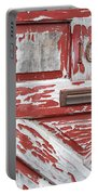 Weathered Red Door 1 Portable Battery Charger