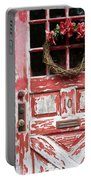 Weathered Red Door 3 Portable Battery Charger