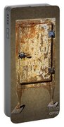 Weathered Rusty Refrigerator Portable Battery Charger
