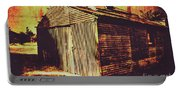 Weathered Vintage Rural Shed Portable Battery Charger